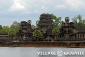 Photos Angkor - Douve d'Angkor Vat (ou Angkor Wat)