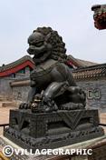 Photos Pékin/Beijing - Lion de bronze au Palais d'Eté