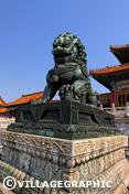 Photos Pékin/Beijing - Statue gardien de la cité impériale