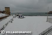 Photos Provence - La plage des catalans sous la neige