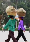 Photos Vietnam - Hanoi - Boulangères dans la rue