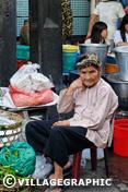 Photos Vietnam - Petite mamie dans un marché à HCMV
