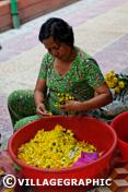 Photos Vietnam - Préparation pour les offrandes