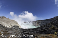 Photos Indon�sie - Le crat�re du volcan Kawah Ijen -