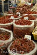 Photos Thailande - Piments sur un marché à Chiang Rai