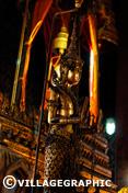 Photos Thailande - Statue dans temple à Bangkok