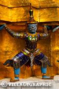 Photos Thailande - Temple Wat Pho : statue gardienne