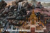 Photos Thailande - Peinture murale Wat Phra Kaew et le Grand Palais