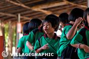 Photos Thailande - Enfants venant voir les éléphants