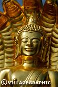 Photos Thailande - Bouddha dans un temple de Mukdahan