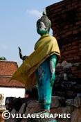 Photos Thailande - Wat Thammikarat - ville Ayutthaya