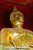 Photos Thailande - Statue de Bouddha dans un temple d'Ayutthaya
