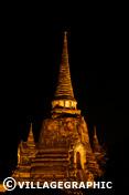 Photos Thailande - Wat Phra Si Sanphet de nuit