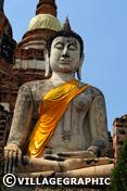 Photos Thailande - Bouddha au Wat Yai Chai Mongkhon