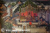 Photos Thailande - Peintures murales du Wat Suwan Dararam