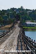 Photos Thailande - Pont en bois le plus long de Thaïlande