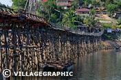 Photos Thailande - Wang Kha pont de Sangkhlaburi